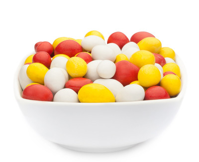 WHITE, YELLOW & RED PEANUTS