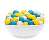 WHITE, YELLOW & BLUE PEANUTS