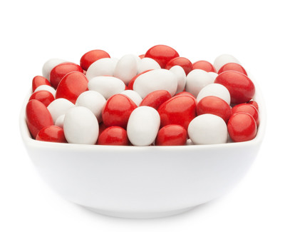 WHITE & RED PEANUTS Muster