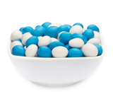 WHITE & BLUE PEANUTS sample