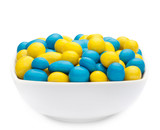 YELLOW & BLUE PEANUTS Muster