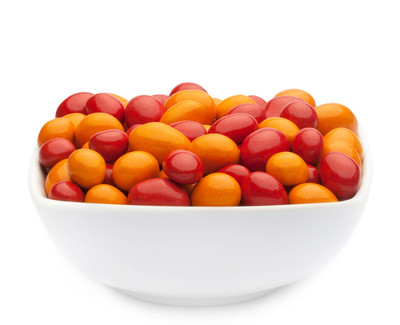 ORANGE & RED PEANUTS Muster