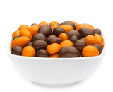 ORANGE & BROWN PEANUTS Muster