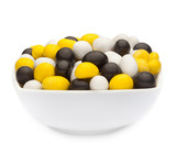 WHITE, YELLOW & BLACK PEANUTS Muster