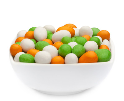 WHITE, ORANGE & GREEN PEANUTS Muster