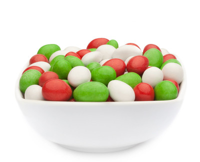 WHITE, RED & GREEN PEANUTS Muster