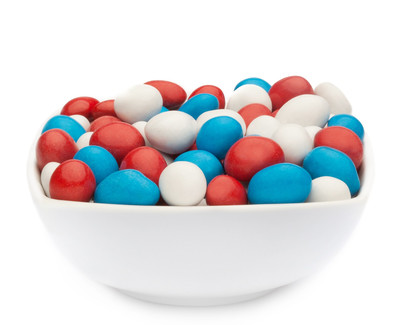 WHITE, RED & BLUE PEANUTS Muster