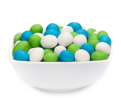 WHITE, GREEN & BLUE PEANUTS Muster