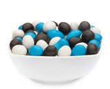 WHITE, BLUE & BLACK PEANUTS Muster