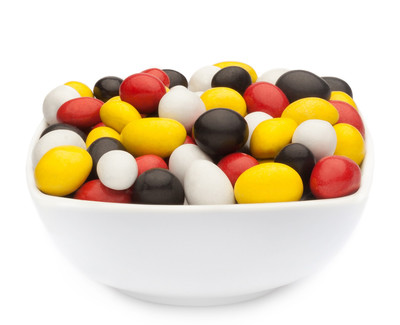 WHITE, YELLOW, RED & BLACK PEANUTS Muster