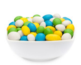 WHITE, YELLOW, GREEN & BLUE PEANUTS Muster