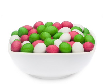 WHITE, PINK & GREEN PEANUTS Muster