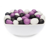 WHITE, PURPLE & BLACK PEANUTS Muster