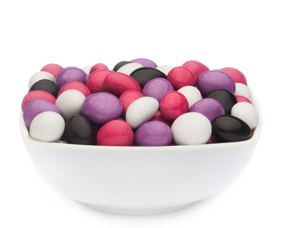 WHITE, PINK, PURPLE & BLACK PEANUTS Muster