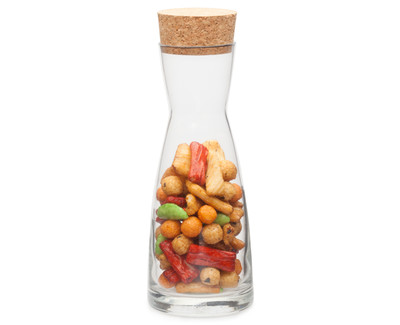 GLASS CARAFE 250ml 16,5cm height with cork plug