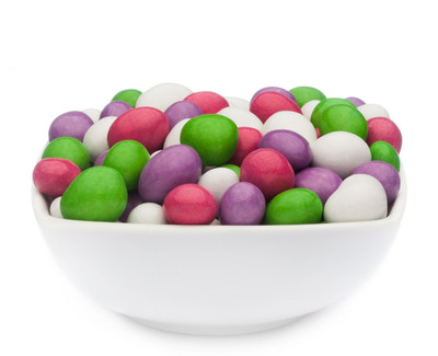 WHITE, PINK, GREEN & PURPLE PEANUTS