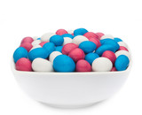 WHITE, PINK & BLUE PEANUTS
